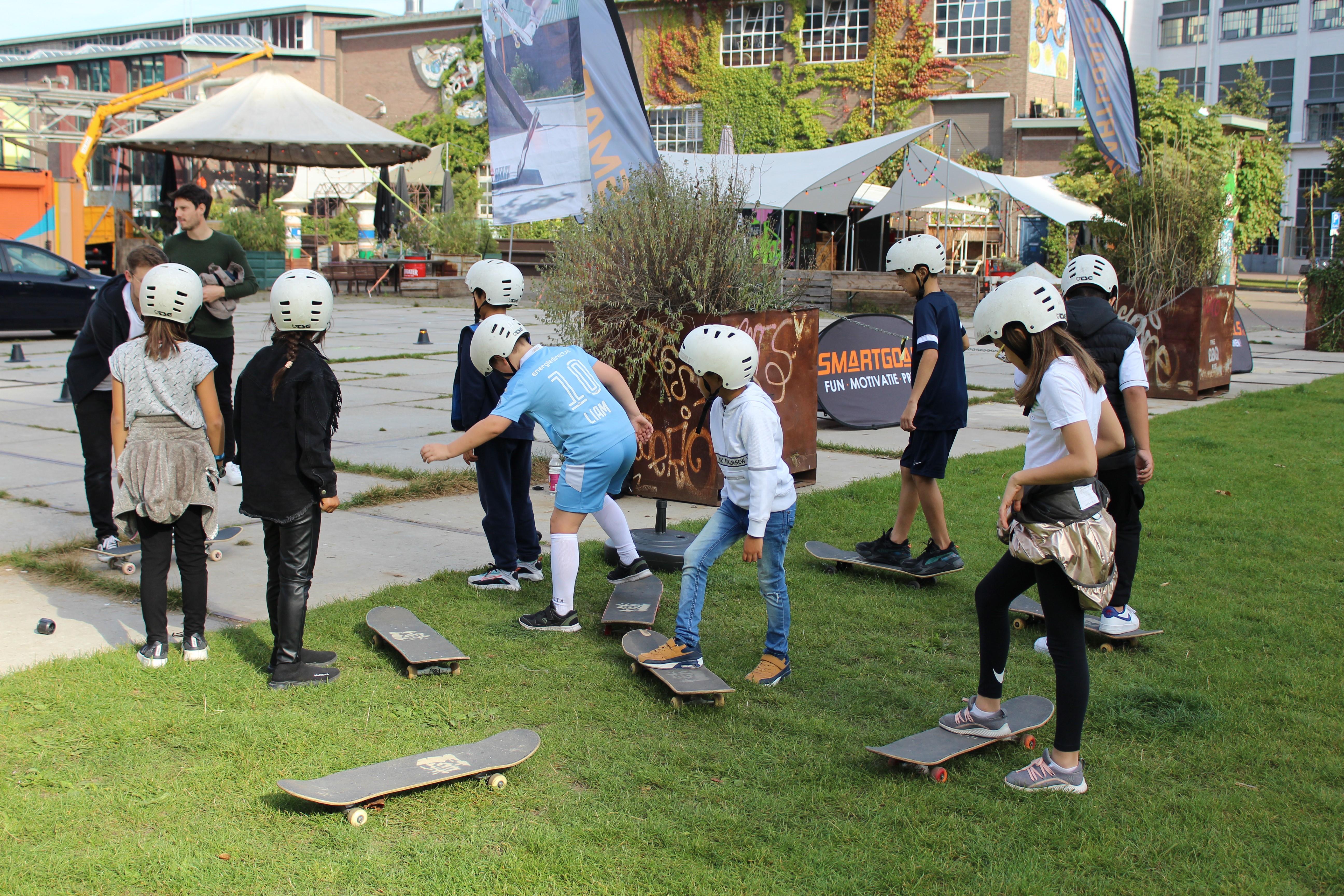 Workshop skateboarden op 040Beweegplein